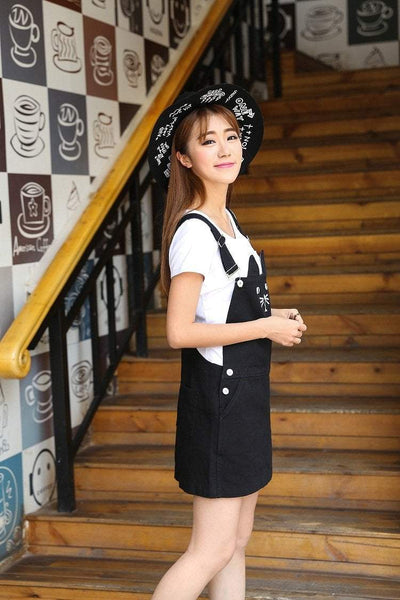 Black Kawaii Neko Kitty Cat Suspender Dress - GOTAMOCHI KPOP BTS MERCH KAWAII Shop -