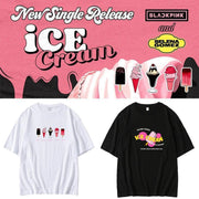BLACKPINK 'Ice Cream' Design T-shirt Gotamochi BTS MERCH BT21 MERCH KAWAII STORE