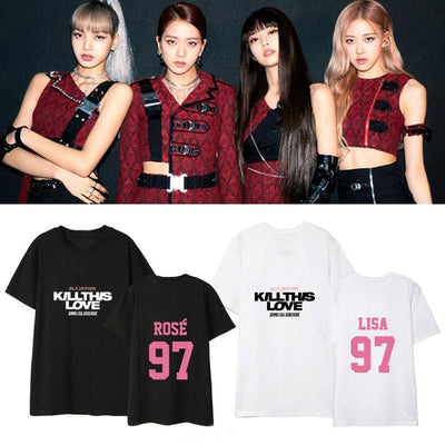 BLACKPINK Kill This Love Member T-shirt Gotamochi BTS MERCH BT21 MERCH KAWAII STORE