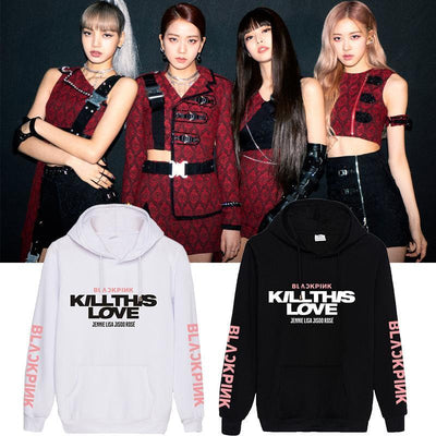 BLACKPINK Kill This Love Sleeve Hoodie Gotamochi BTS MERCH BT21 MERCH KAWAII STORE