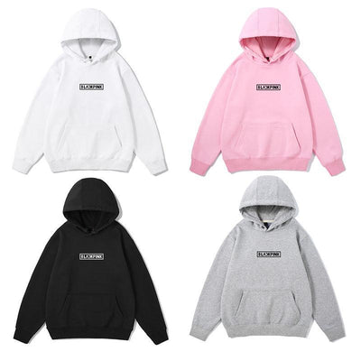 BLACKPINK Logo Classic Hoodie Gotamochi BTS MERCH BT21 MERCH KAWAII STORE