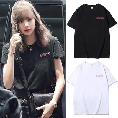 BLACKPINK Official Logo Classic T-shirt Gotamochi BTS MERCH BT21 MERCH KAWAII STORE