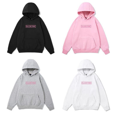 BLACKPINK Pink Logo Classic Hoodie Gotamochi BTS MERCH BT21 MERCH KAWAII STORE