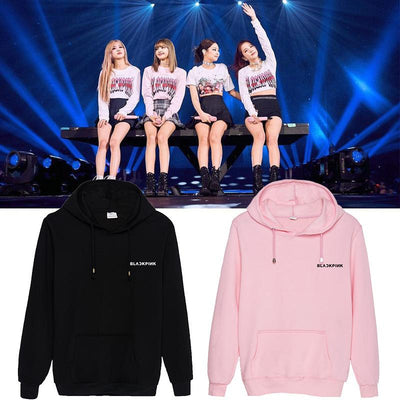 BLACKPINK Small Logo Classic Hoodie Gotamochi BTS MERCH BT21 MERCH KAWAII STORE
