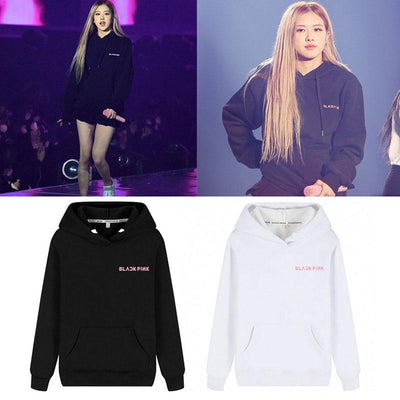 BLACKPINK Small Pink Logo Classic Hoodie Gotamochi BTS MERCH BT21 MERCH KAWAII STORE