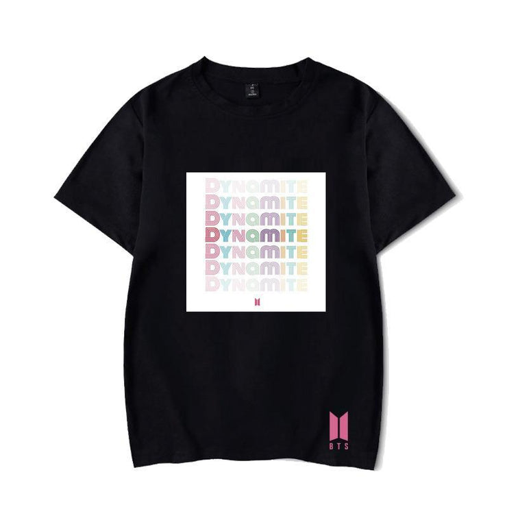 BTS Album DYNAMITE T-shirt S / Black / D Gotamochi BTS MERCH BT21 MERCH KAWAII STORE