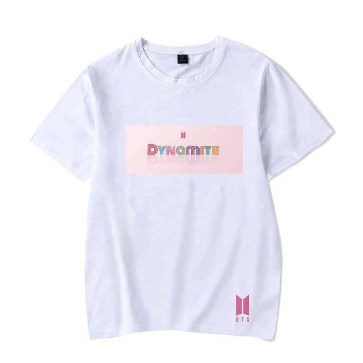 BTS Album DYNAMITE T-shirt S / White / B Gotamochi BTS MERCH BT21 MERCH KAWAII STORE