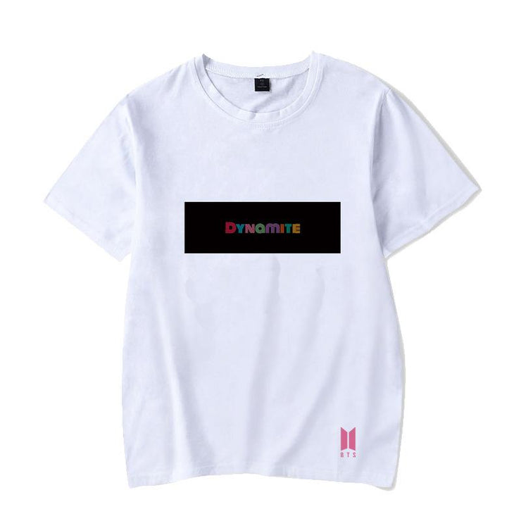 BTS Album DYNAMITE T-shirt S / White / C Gotamochi BTS MERCH BT21 MERCH KAWAII STORE