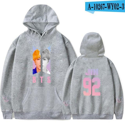 BTS Army Bias Pastel Hoodie gray / M Gotamochi BTS MERCH BT21 MERCH KAWAII STORE