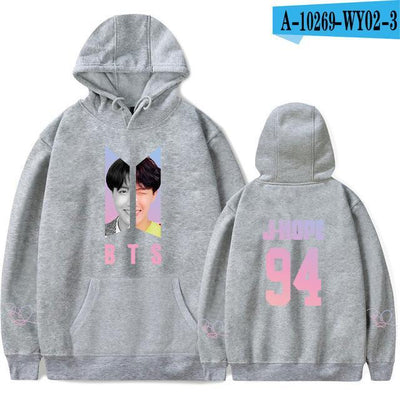 BTS Army Bias Pastel Hoodie gray11 / M Gotamochi BTS MERCH BT21 MERCH KAWAII STORE
