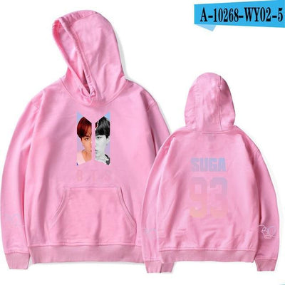 BTS Army Bias Pastel Hoodie pink8 / M Gotamochi BTS MERCH BT21 MERCH KAWAII STORE