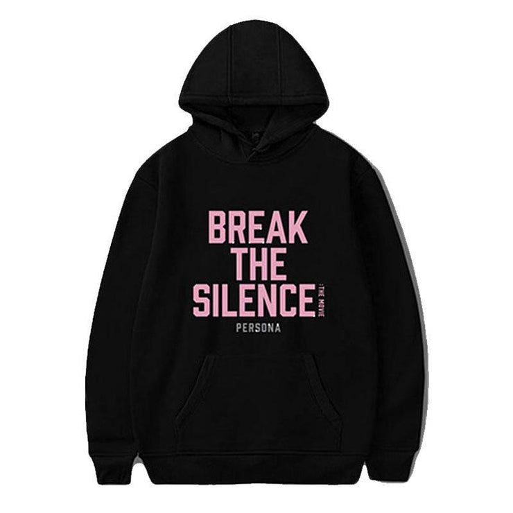 BTS Break The Silence Design Hoodie BLACK / S Gotamochi BTS MERCH BT21 MERCH KAWAII STORE