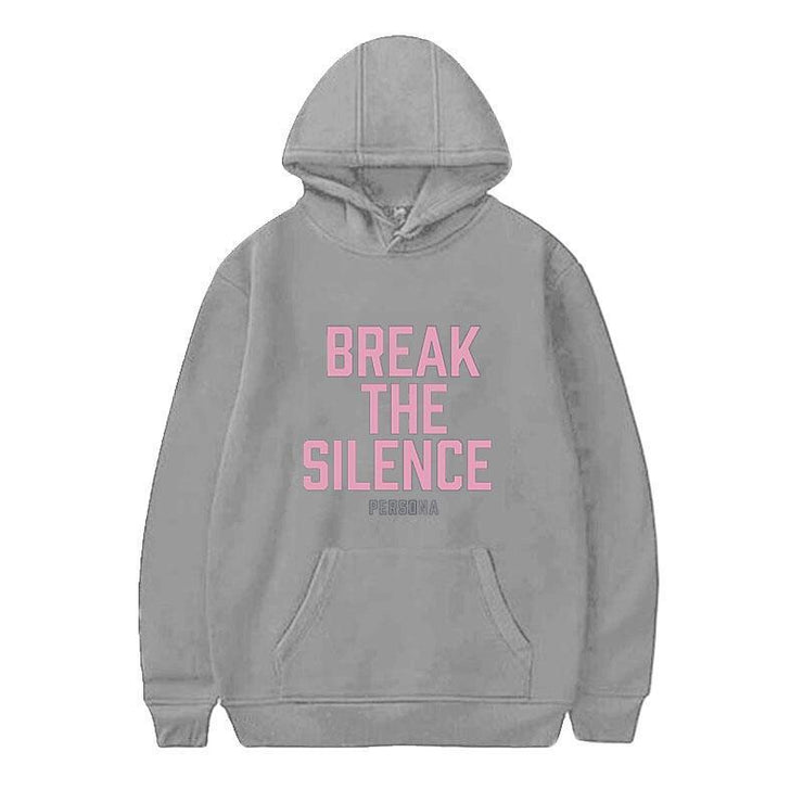 BTS Break The Silence Design Hoodie GRAY / S Gotamochi BTS MERCH BT21 MERCH KAWAII STORE