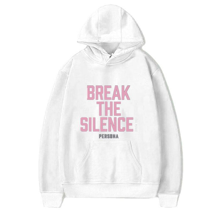 BTS Break The Silence Design Hoodie WHITE / S Gotamochi BTS MERCH BT21 MERCH KAWAII STORE