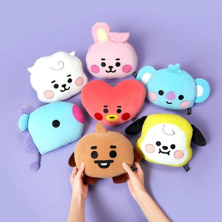 BTS BT21 Baby Face Flat Cushion 25x30CM / Entire Set Gotamochi BTS MERCH BT21 MERCH KAWAII STORE