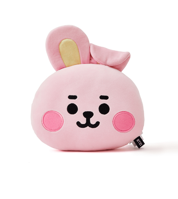 BTS BT21 Baby Face Flat Cushion 25x30cm / KOOKY JUNG KOOK Gotamochi BTS MERCH BT21 MERCH KAWAII STORE