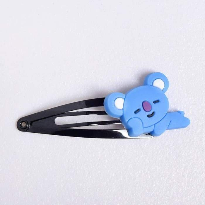 BTS BT21 Character Hair Clip KOYA Gotamochi BTS MERCH BT21 MERCH KAWAII STORE