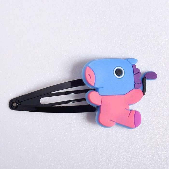 BTS BT21 Character Hair Clip MANG Gotamochi BTS MERCH BT21 MERCH KAWAII STORE