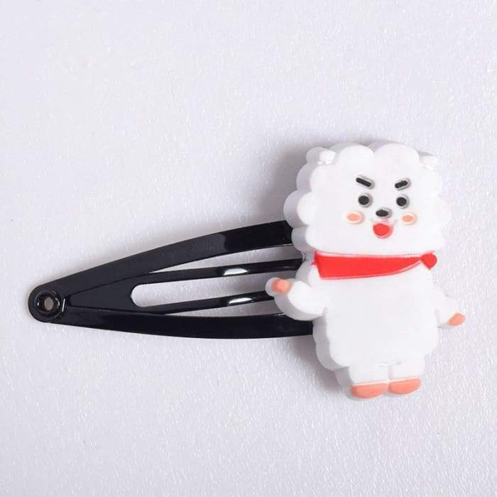 BTS BT21 Character Hair Clip RJ Gotamochi BTS MERCH BT21 MERCH KAWAII STORE