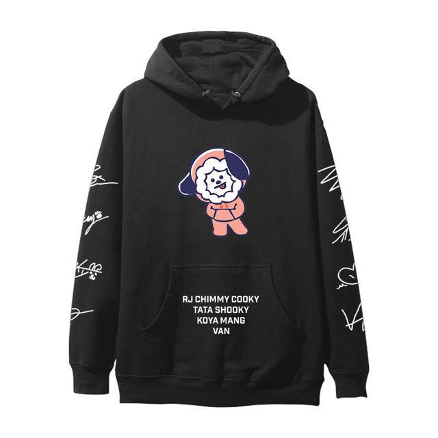 BTS BT21 Christmas Special Edition Hoodie Black Chimmy / XXS Gotamochi BTS MERCH BT21 MERCH KAWAII STORE