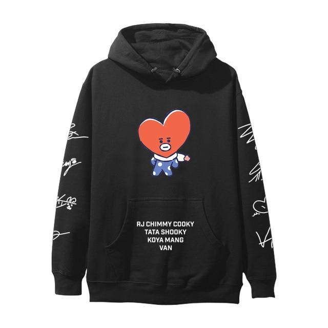 BTS BT21 Christmas Special Edition Hoodie Black Tata / XXS Gotamochi BTS MERCH BT21 MERCH KAWAII STORE