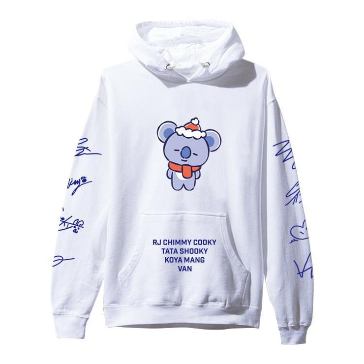 BTS BT21 Christmas Special Edition Hoodie Gotamochi BTS MERCH BT21 MERCH KAWAII STORE