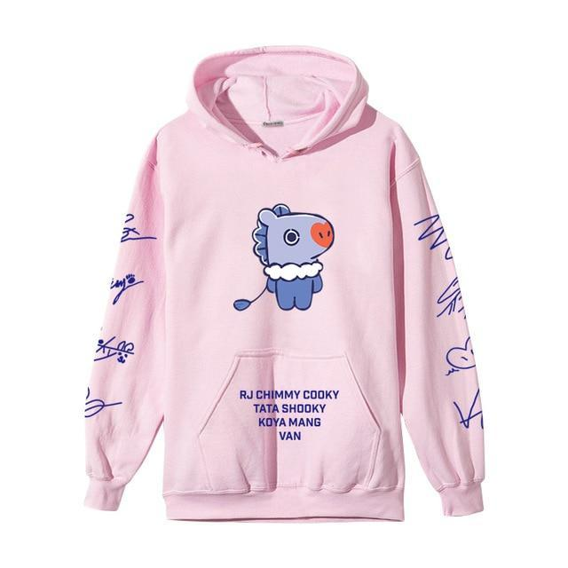 BTS BT21 Christmas Special Edition Hoodie Pink Mang / XXS Gotamochi BTS MERCH BT21 MERCH KAWAII STORE