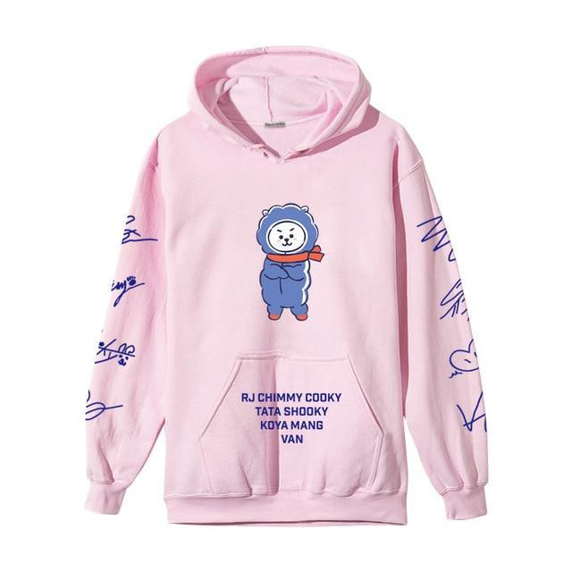 BTS BT21 Christmas Special Edition Hoodie Pink RJ / XXS Gotamochi BTS MERCH BT21 MERCH KAWAII STORE