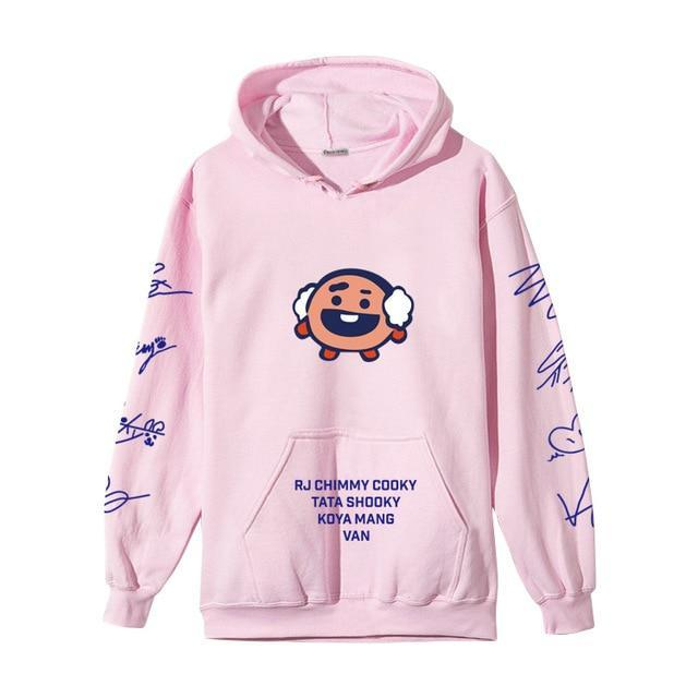 BTS BT21 Christmas Special Edition Hoodie Pink Shooky / XXS Gotamochi BTS MERCH BT21 MERCH KAWAII STORE
