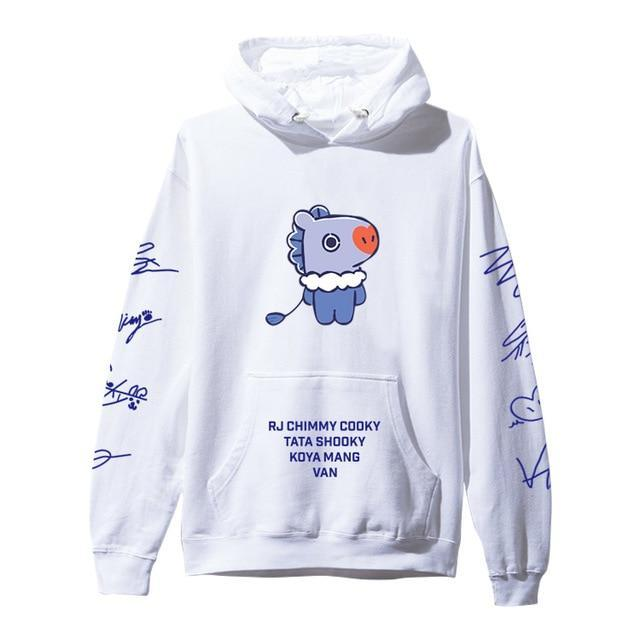 BTS BT21 Christmas Special Edition Hoodie White Mang / XXS Gotamochi BTS MERCH BT21 MERCH KAWAII STORE