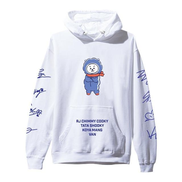 BTS BT21 Christmas Special Edition Hoodie White RJ / XXS Gotamochi BTS MERCH BT21 MERCH KAWAII STORE