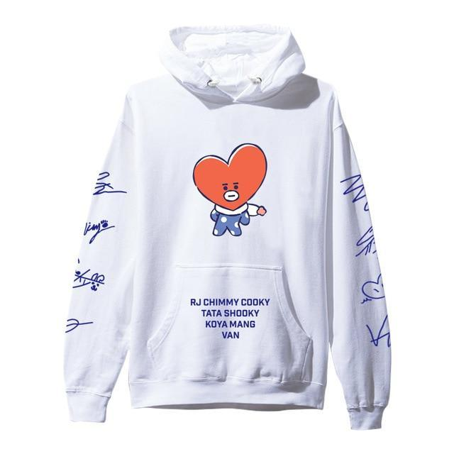 BTS BT21 Christmas Special Edition Hoodie White Tata / XXS Gotamochi BTS MERCH BT21 MERCH KAWAII STORE