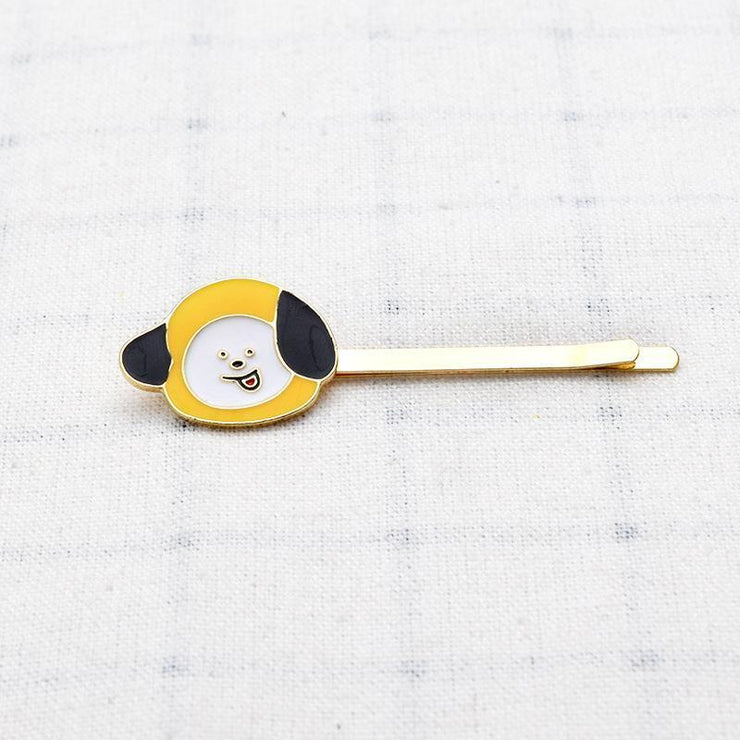 BTS BT21 Cute Character Hair Clip Pin CHIMMY Gotamochi BTS MERCH BT21 MERCH KAWAII STORE