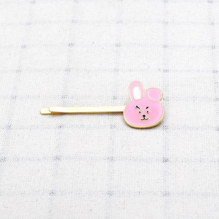 BTS BT21 Cute Character Hair Clip Pin COOKY Gotamochi BTS MERCH BT21 MERCH KAWAII STORE