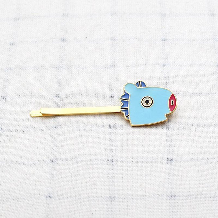 BTS BT21 Cute Character Hair Clip Pin MANG Gotamochi BTS MERCH BT21 MERCH KAWAII STORE