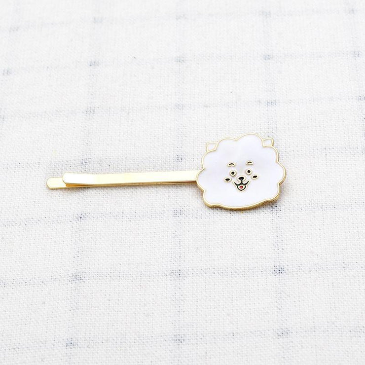 BTS BT21 Cute Character Hair Clip Pin RJ Gotamochi BTS MERCH BT21 MERCH KAWAII STORE