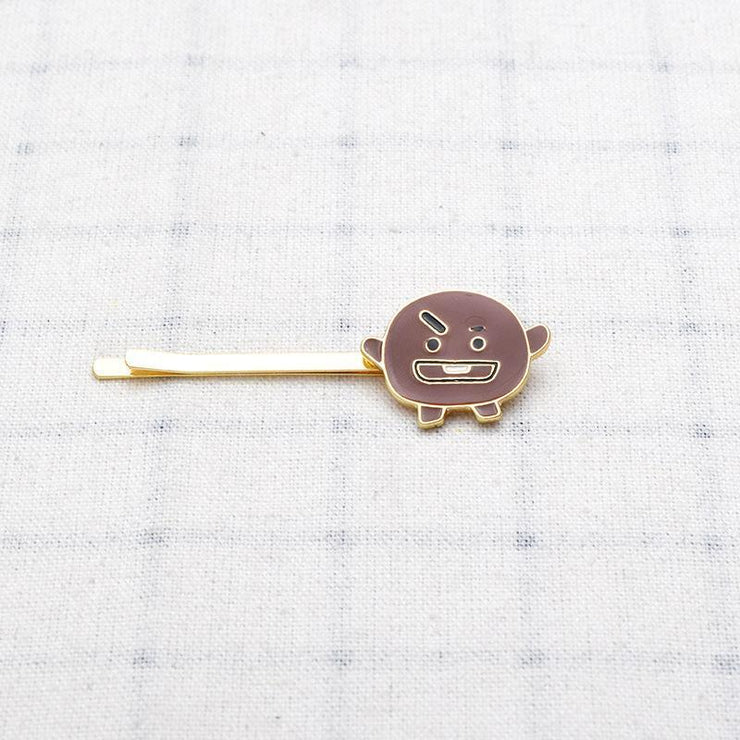 BTS BT21 Cute Character Hair Clip Pin SHOOKY Gotamochi BTS MERCH BT21 MERCH KAWAII STORE