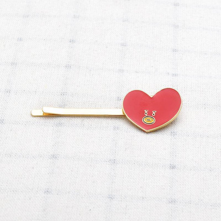 BTS BT21 Cute Character Hair Clip Pin TATA Gotamochi BTS MERCH BT21 MERCH KAWAII STORE