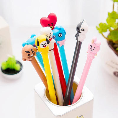 BTS BT21 Full Stationery Gel Pen Gotamochi BTS MERCH BT21 MERCH KAWAII STORE