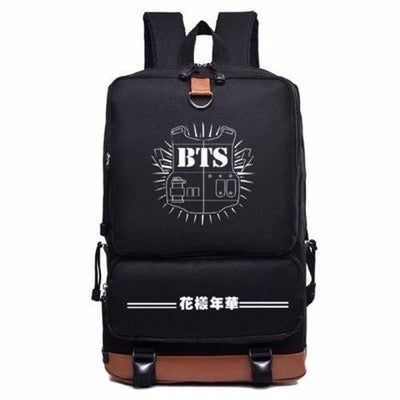 BTS Bulletproof Long Canvas Backpack Gotamochi BTS MERCH BT21 MERCH KAWAII STORE