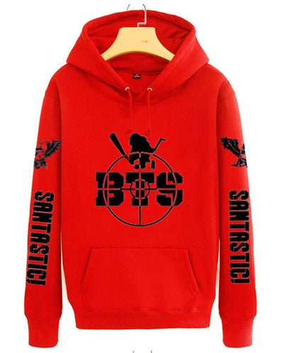 BTS Bulletproof Santastic Hoodie Red / M Gotamochi BTS MERCH BT21 MERCH KAWAII STORE