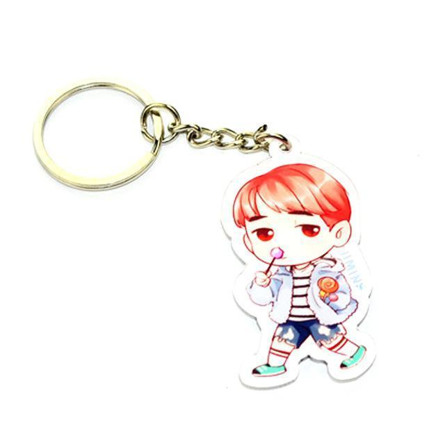 BTS Cartoon Keychain JIMIN Gotamochi BTS MERCH BT21 MERCH KAWAII STORE