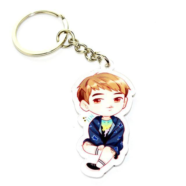 BTS Cartoon Keychain JIN Gotamochi BTS MERCH BT21 MERCH KAWAII STORE