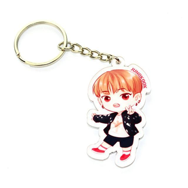 BTS Cartoon Keychain JUNG KOOK Gotamochi BTS MERCH BT21 MERCH KAWAII STORE