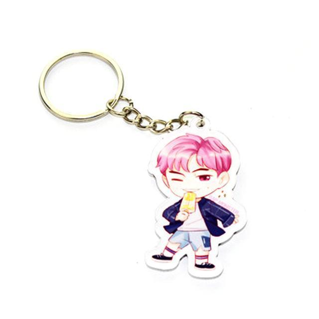BTS Cartoon Keychain RAP MONSTER Gotamochi BTS MERCH BT21 MERCH KAWAII STORE