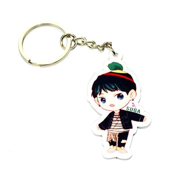 BTS Cartoon Keychain SUGA Gotamochi BTS MERCH BT21 MERCH KAWAII STORE