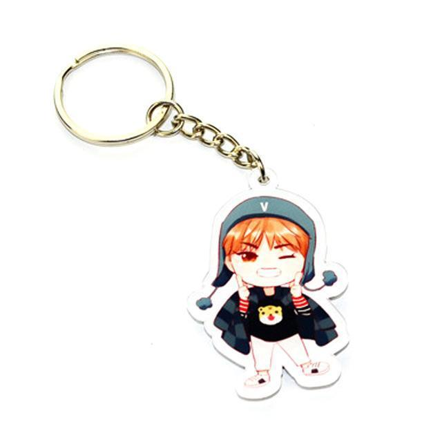 BTS Cartoon Keychain V Gotamochi BTS MERCH BT21 MERCH KAWAII STORE