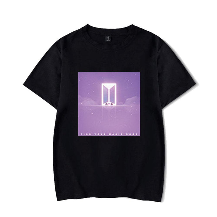 BTS Character TinyTAN Concept T-shirt D / BLACK / S Gotamochi BTS MERCH BT21 MERCH KAWAII STORE