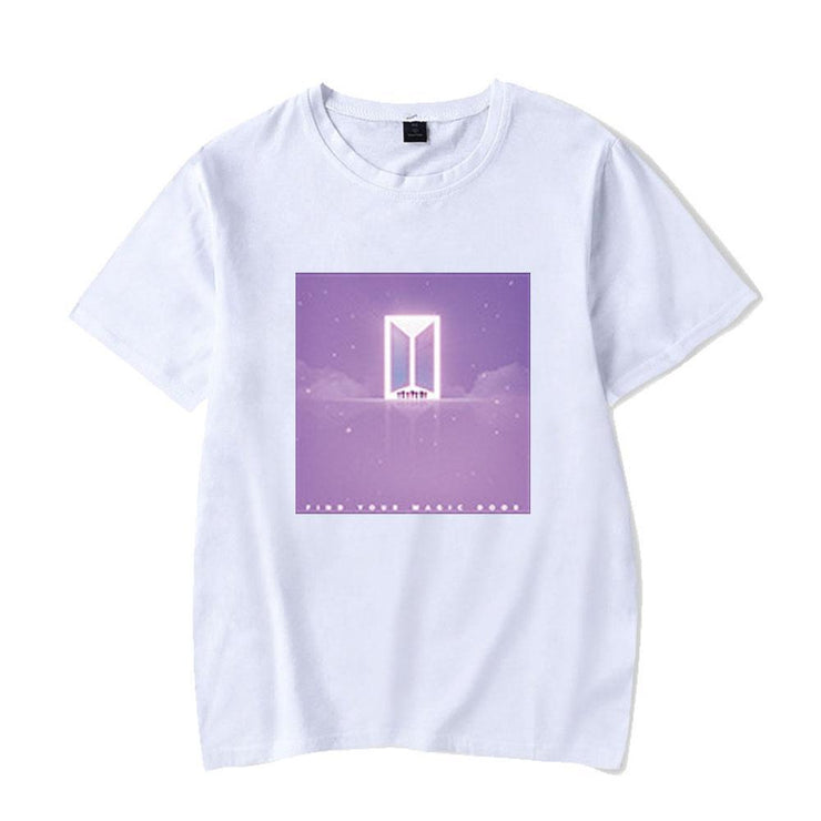 BTS Character TinyTAN Concept T-shirt D / WHITE / S Gotamochi BTS MERCH BT21 MERCH KAWAII STORE