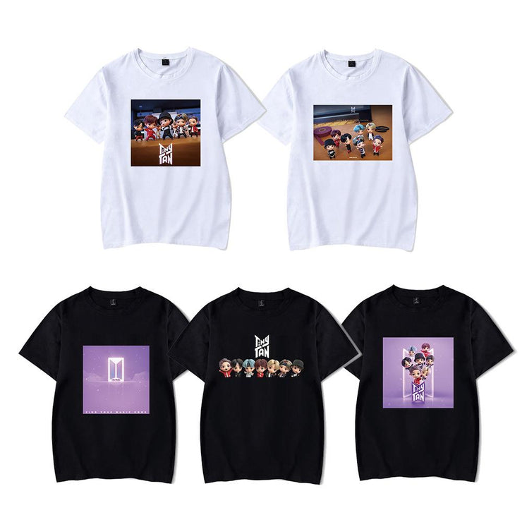 BTS Character TinyTAN Concept T-shirt Gotamochi BTS MERCH BT21 MERCH KAWAII STORE